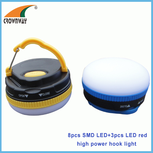 Led magnet and hook camping light Led hook rechargeable emergency light LED tent reading light magnet lantern