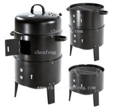 3-in-1 asador BBQ/braai smoker