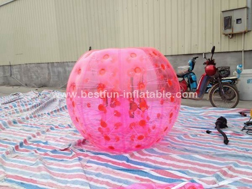 PVC bumper bubble ball for soccer