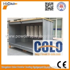 powder coating Booth with four filters