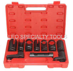 10pcs Oxygen Sensor And Diesel Fuel Injection Socket Set