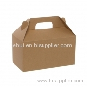 Gable Box Flat packed Medium Brown Kraft Red Black Silver PAPER GIFT PACKAGING BOX