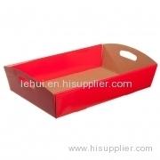 Ostacolare vassoio Flat Pack per il cibo confezione confezione regalo scatola di carta