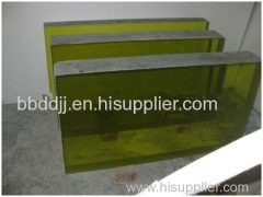 X-ray Radiation Shielding High PB Lead Glass For Nuclear Industry