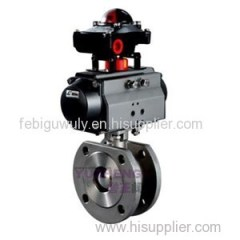 Wafer Pneumatic Ball Valve