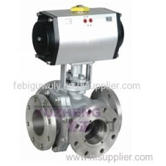 4Way Flange Pneumatic Ball Valve