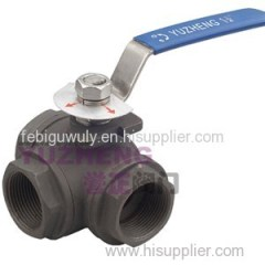 3 Way Carbon Steel Ball Valve