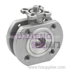 1 Piece Wafer Ball Valve With ISO5211 Pad