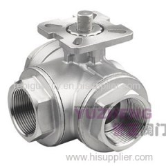 3 Way Ball Valve With ISO5211 PAD