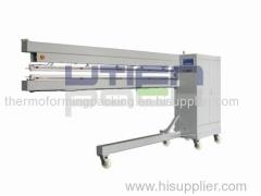 Open end impulse heat banner welding machine