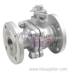 Stainless Steel 2PC Flange Ball Valve