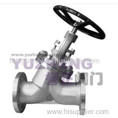 Oblique Y-type Bellow Sealed Globe Valve