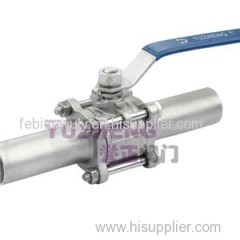 3PC Stainless Steel BW Long Type Ball Valve