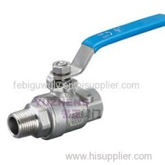 2PC Stainless Steel Thread Ball Valve