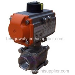 3PC WCB Pneumatic Ball Valve