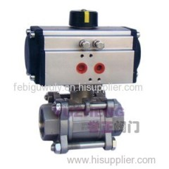 3 PC Inner Thread Pneumatic Ball Valve