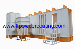 Automatic powder coating booth systems