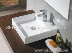 sanitaryware bathroom ceramic white square washbasin