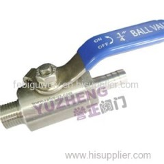 Stock Bar Gas Ball Valve Male Thread