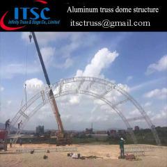 20x8x8M aluminum truss dome structure
