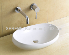 Bathroom ceramic white modern design wash basin