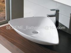 Sanitary ware Ceramic Triangle Counter Top Art Basin
