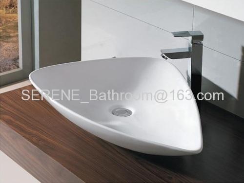 Sanitary ware Ceramic Triangle Counter Top Art Basin