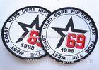 Rubber 3D Custom Clothing Patches Embosssed With Backing