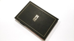 Black board hardcover Japanese bound book