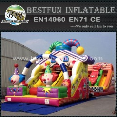 Happy clown inflatable bouncy slides