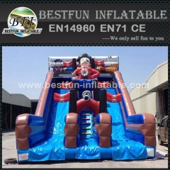 Giant Treasure Island pirate inflatable slide