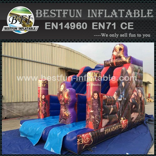 Commercial Inflatable Descendants Jumping Bouncy Slide
