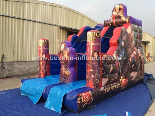 Giant Inflatable Descendants Slide For Adult With Cartoon