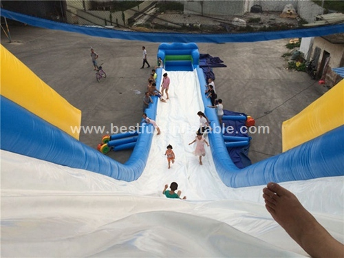 Giant Single Lane Inflatable Hippo Jumbo Water Slide