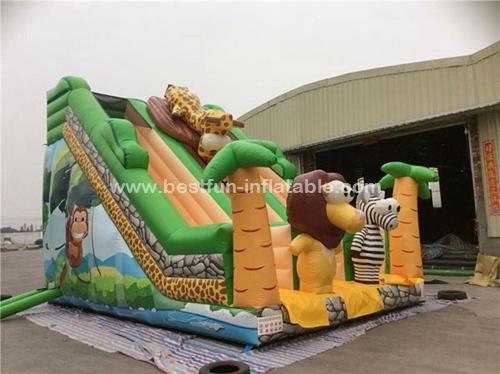 Inflatable jumper slide bouncer jungle