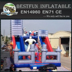 Cartoon Super Hero Commercial Inflatable Slide