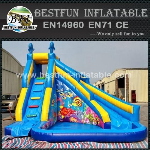 Outdoor Trampoline Park Slide Inflatable Pool