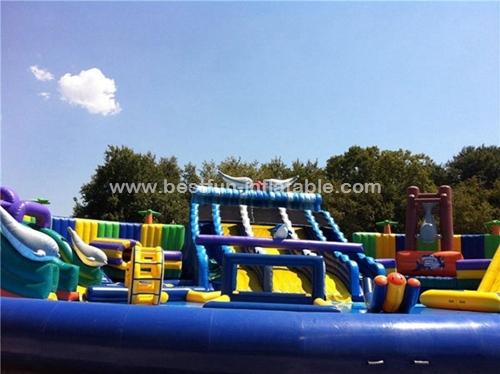 Large Amusement Park Inflatable Water Slide