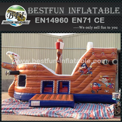 Customized Inflatable Pirate Ship Slide