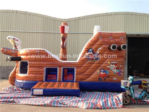 Pirate ship theme inflatable slide for children