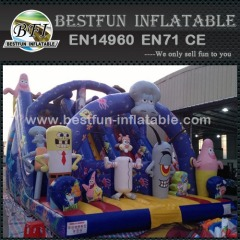 Sponge Bob inflatable Combo inflatable Bouncer Slide
