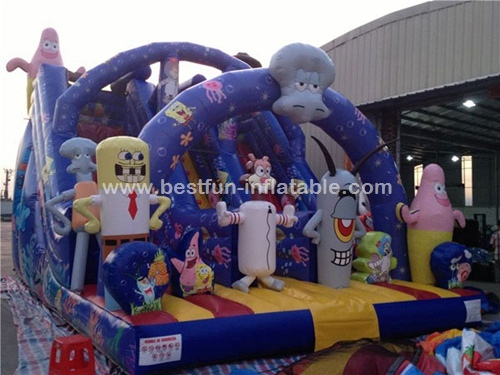 Sponge Bob Inflatable Slide Gaint Inflatable Bouncy Slide Inflatable Kids Air Jumper