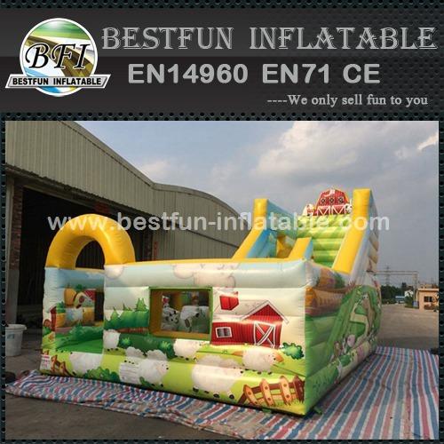 Huge inflatable jungle forest happy slide