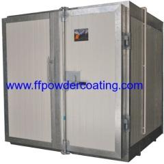 Industriële elektrostatische poedercoating oven