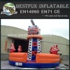 Fire truck inflatable sports game kids outdoor climbing wall