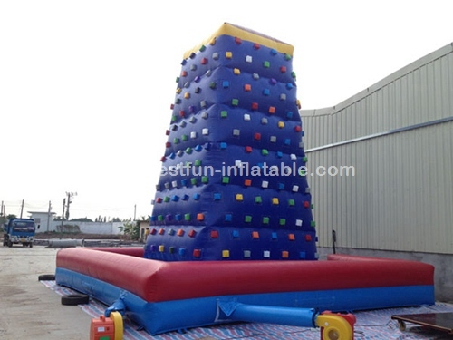 Giant adult inflatable rock climbing wall with mattress