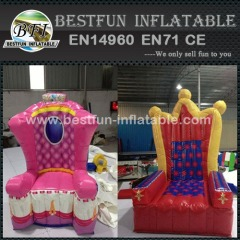 Party Inflatable King Queen Princess Chairs