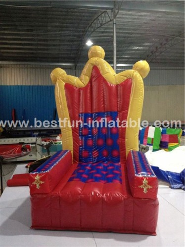 Hot sale custom golden inflatable princess chair