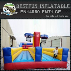 Inflatable bungee run for interaction games