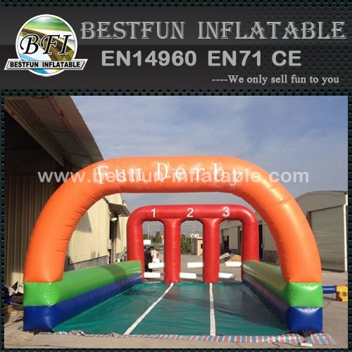 Inflatable Horse Race Field Racecourse Hippodrome